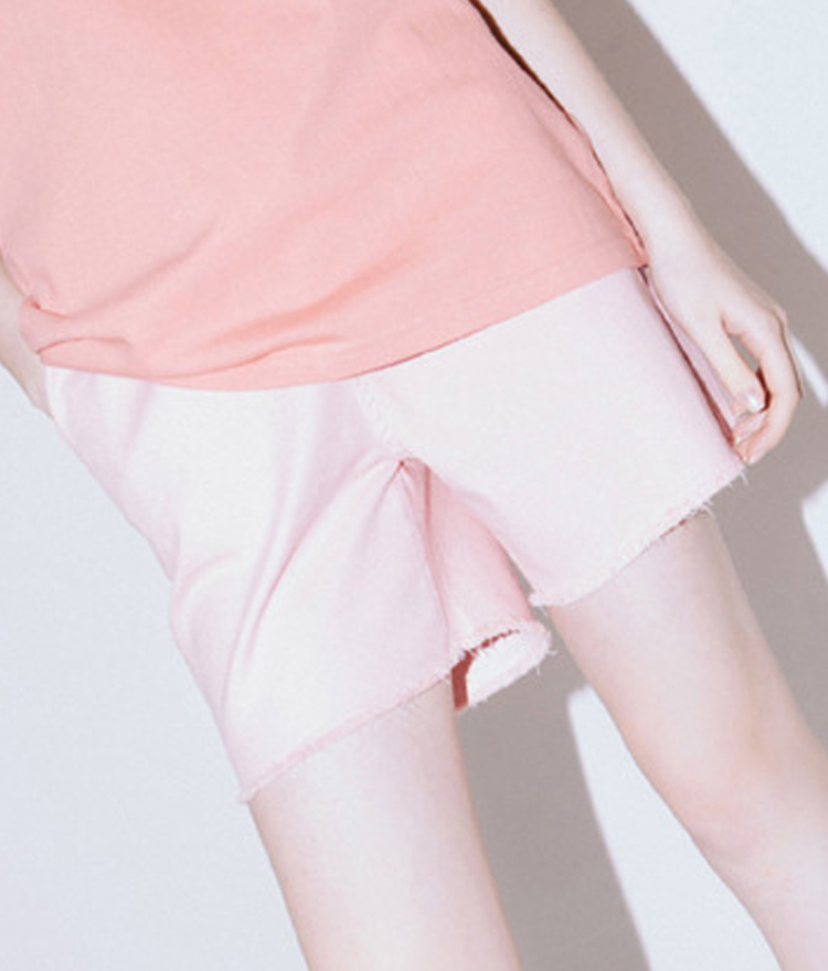 Half Damage Pants(Pink)