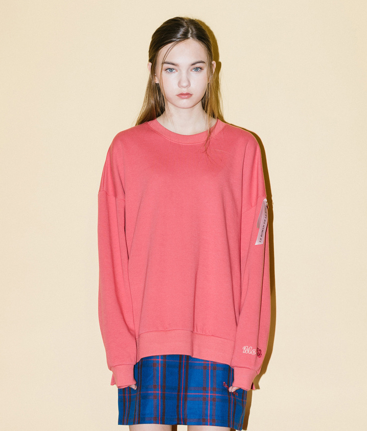 Moi Rose Sweat Shirt(Pink)