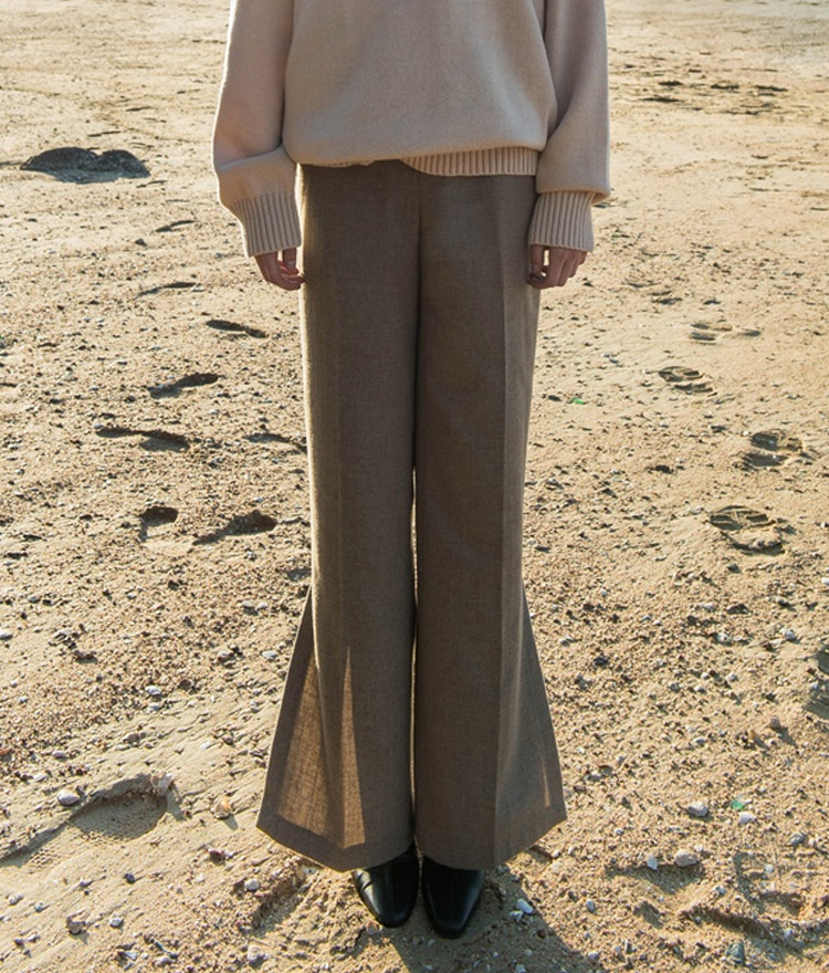 SIDE SLIT PANTS (Wool 60%)