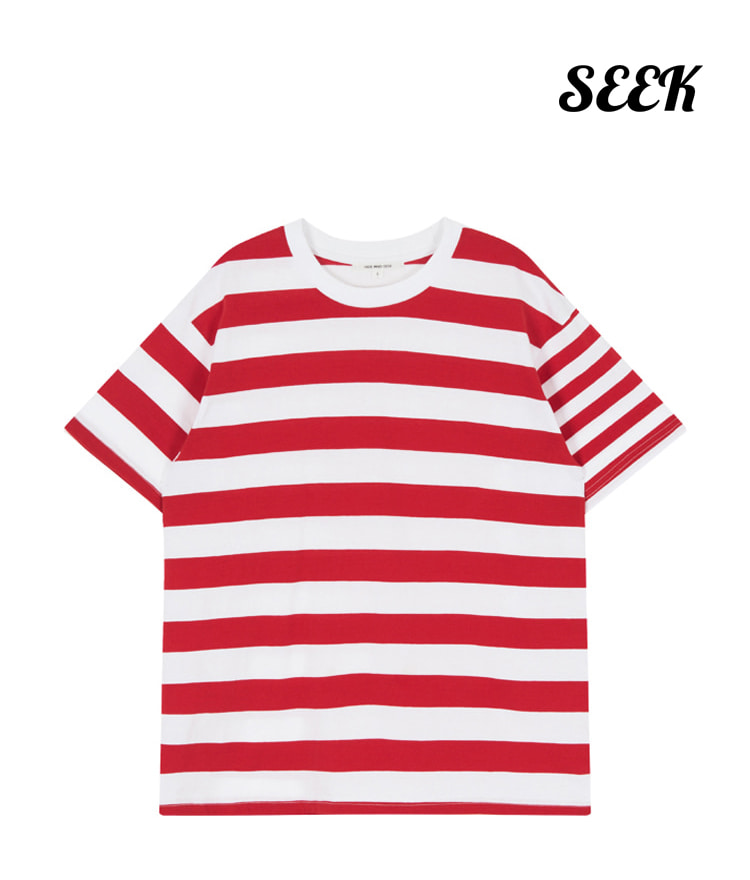 Unbalance Stripe Top(Red)