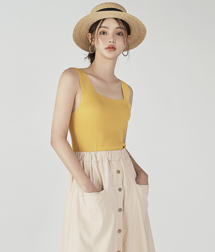 Square Simple Sleeveless
