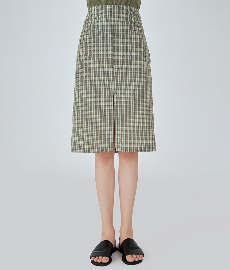 Cool Checked Mid Skirt