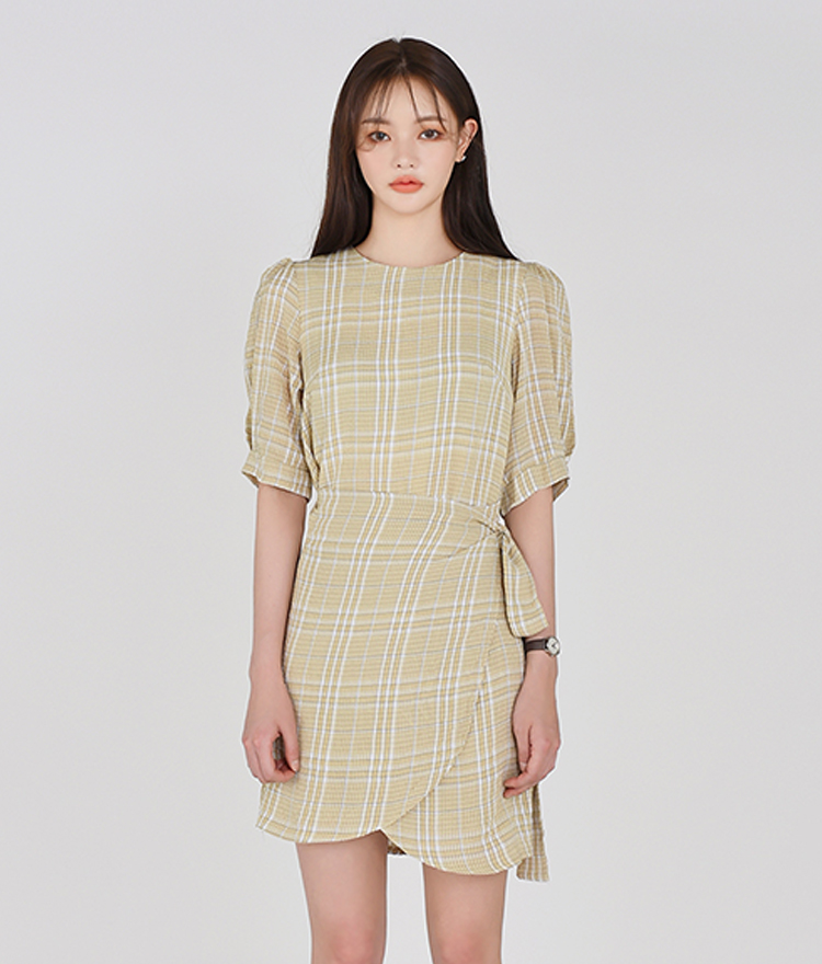 Tartan Checked Wrap Dress