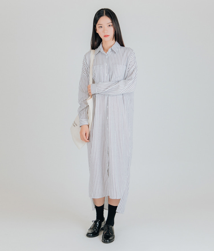 Crush Striped Shirt Dress