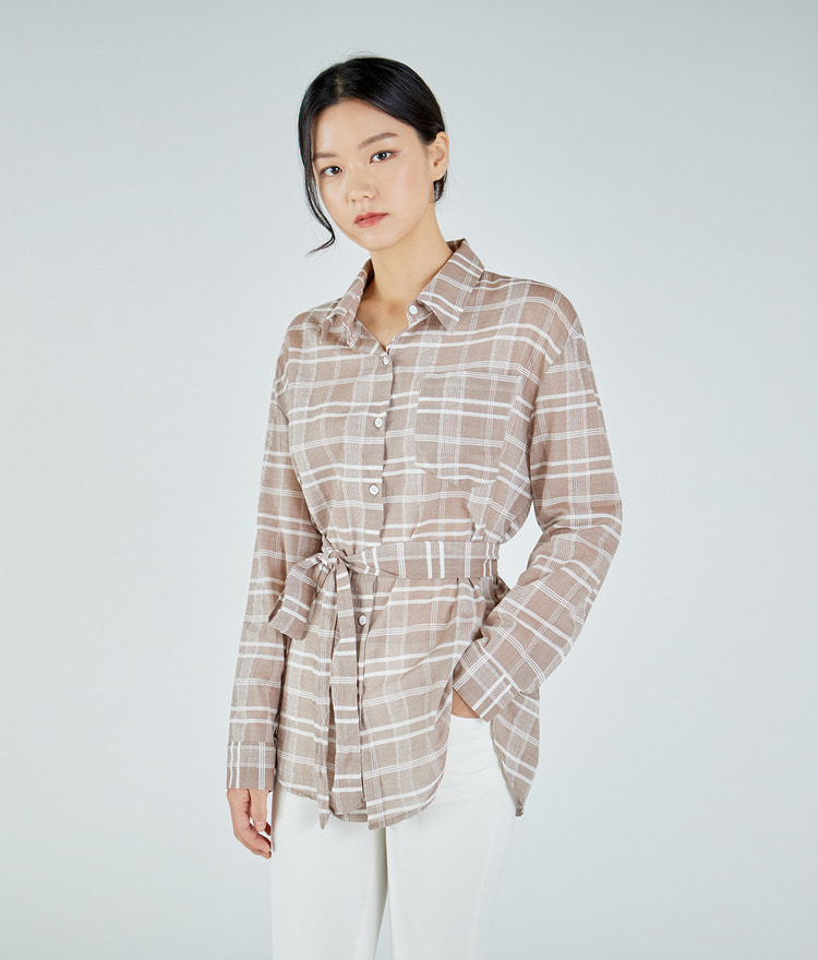 Checked Two-way Strap Shirt
