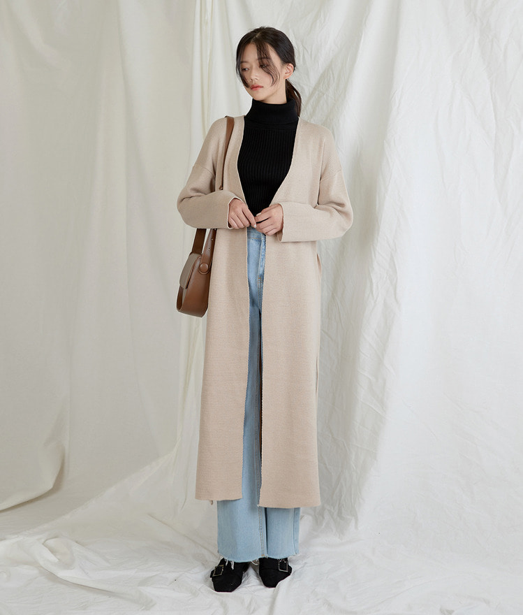 Hidden Long Knit Cardigan